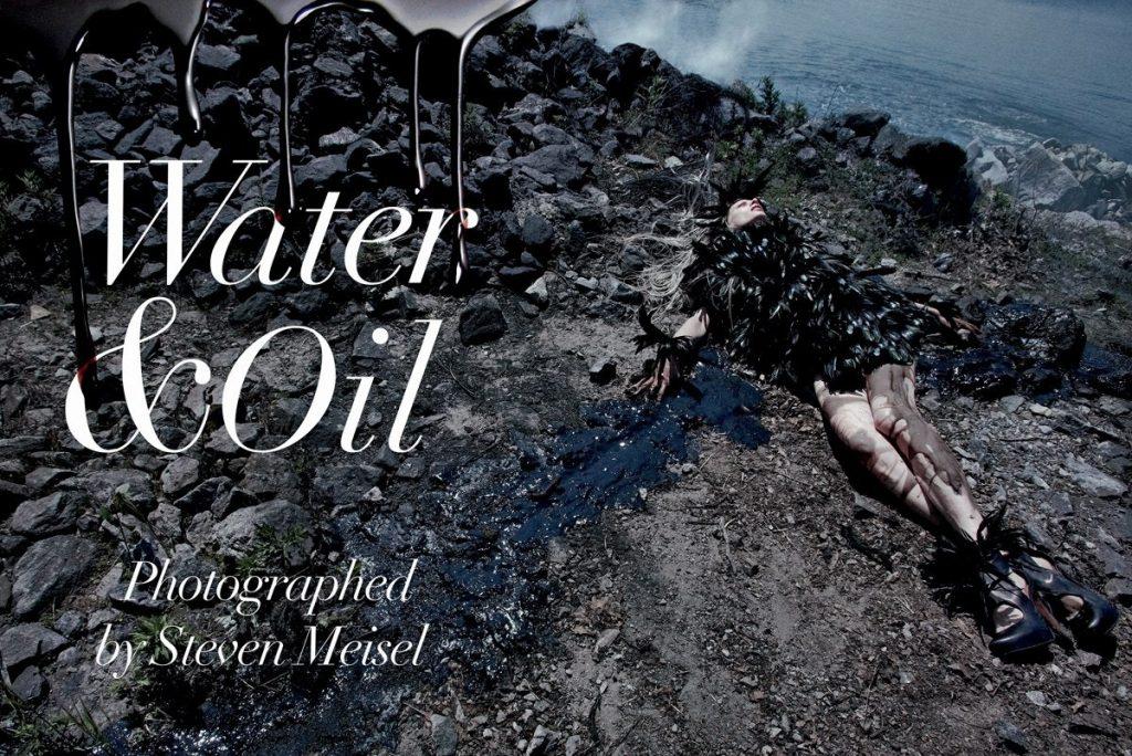 Фотосессия Vogue после аварии на нефтяной станции.