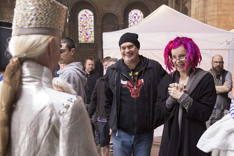 Лана и Лили Вачовски на съёмках «Восхождение Юпитер»