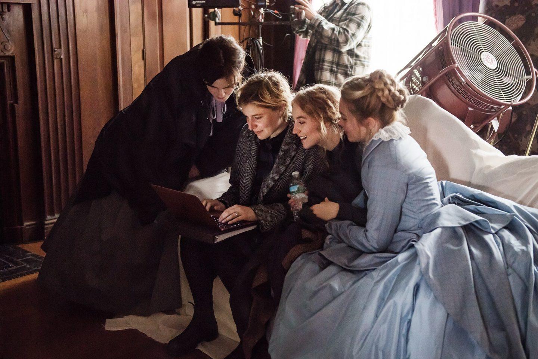 Грета Гервиг на съёмках «Маленьких женщин»