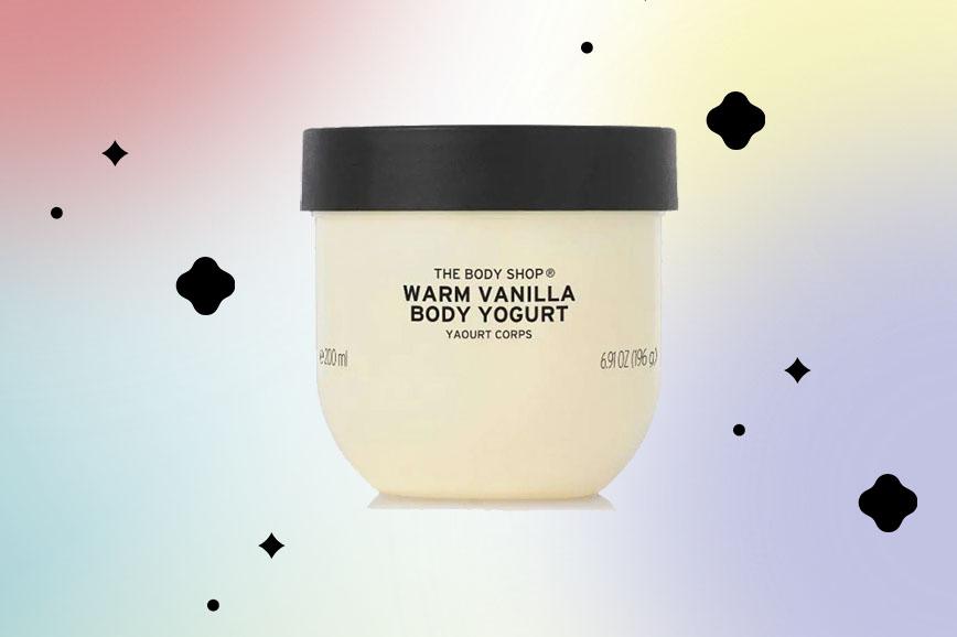 Веганский йогурт для тела от The Body Shop как подарок на 14 февраля