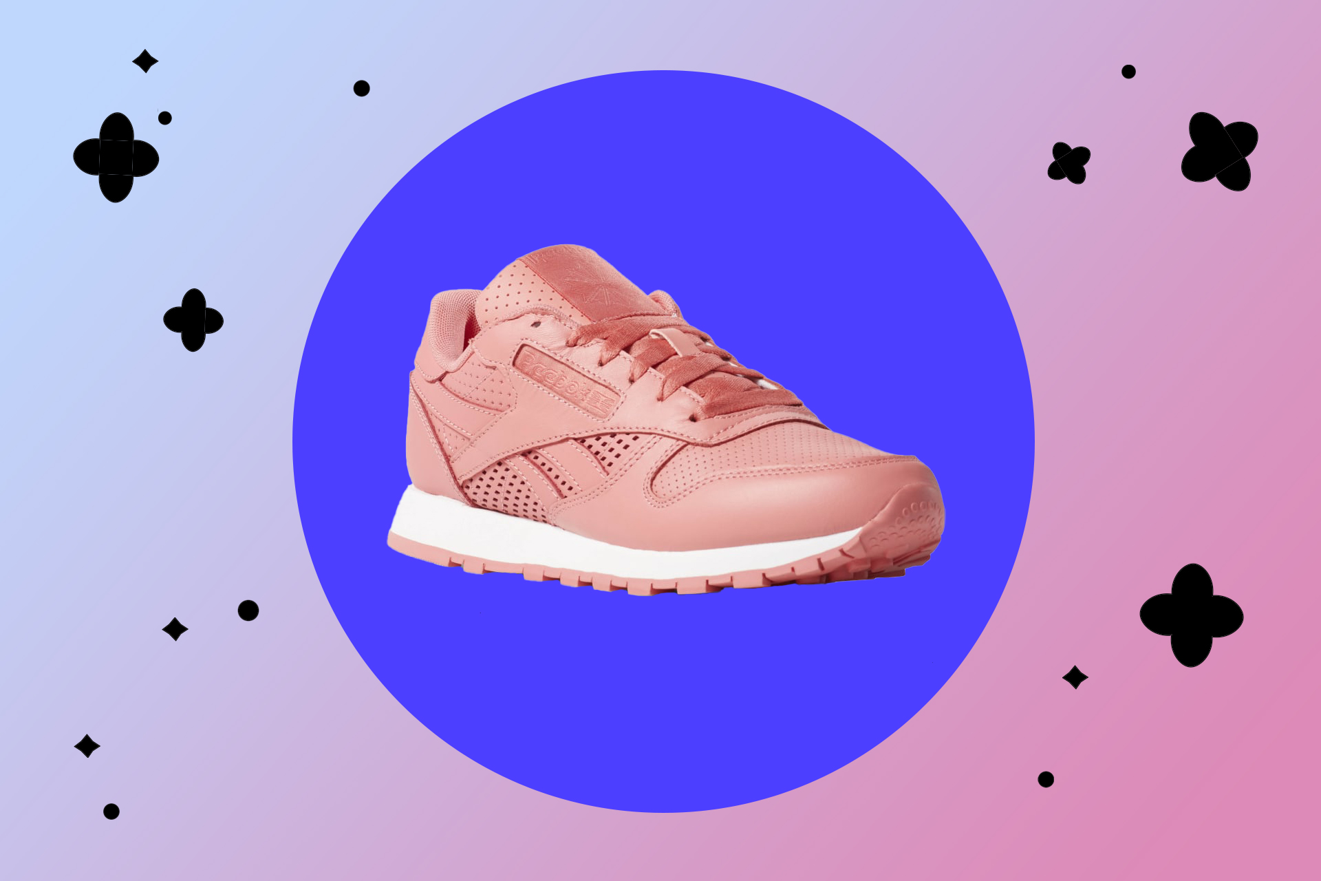 Кроссовки Reebok Classic Leather в розовом цвете