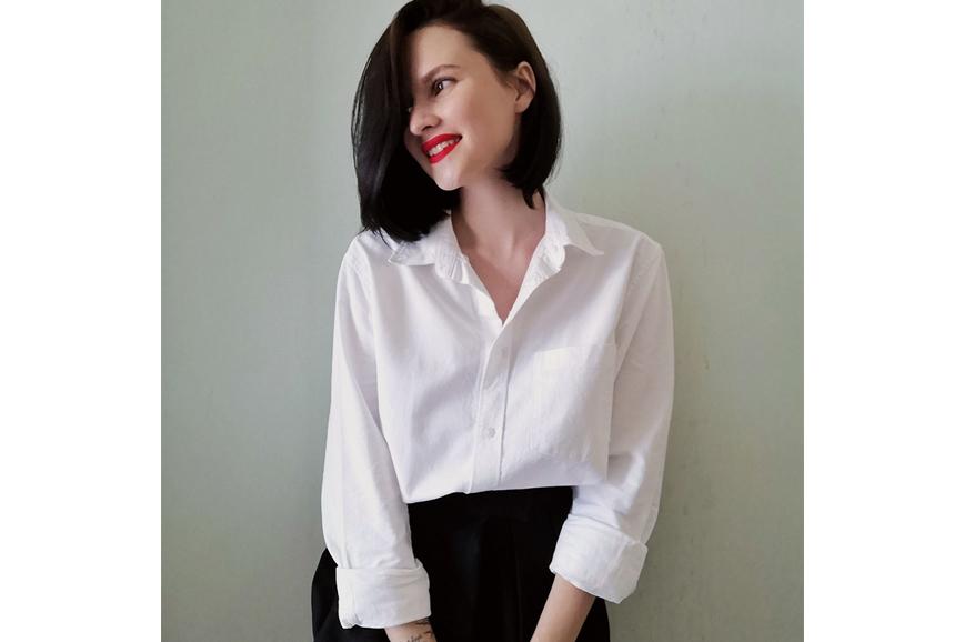 белая женская рубашка: мужской H&M