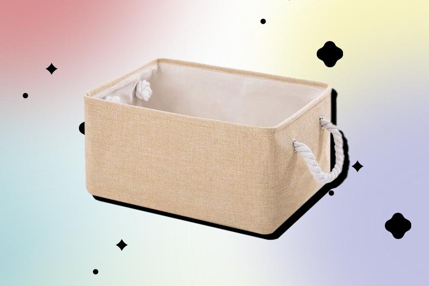 Как украсить гостиную: корзины для хранения