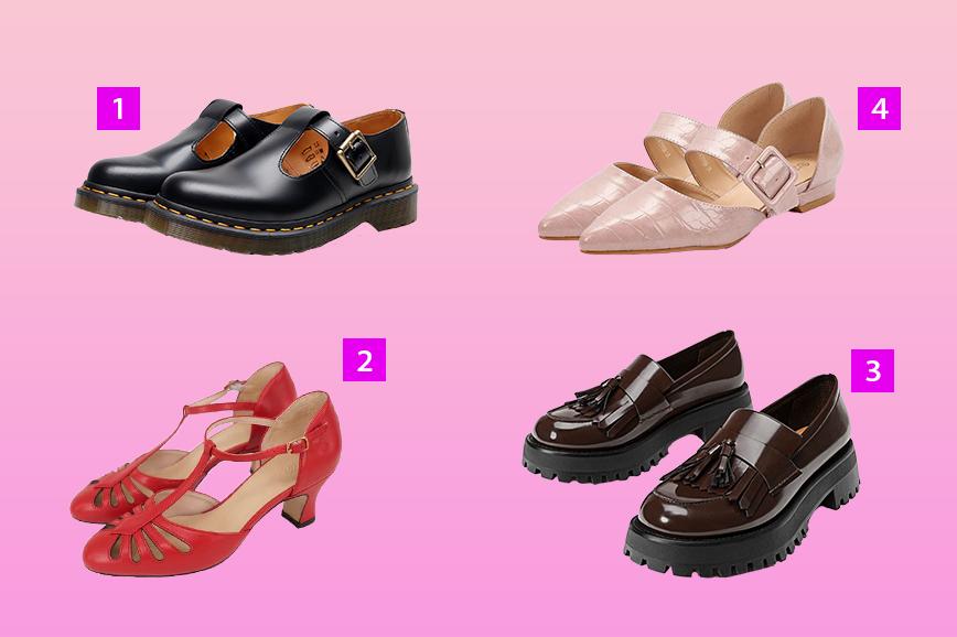 """Как одеться в стиле Твигги: """"детская"""" обувь"""