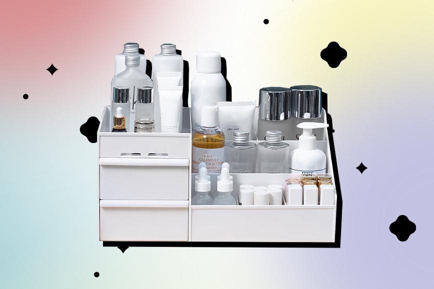Как украсить ванную: органайзер для косметики