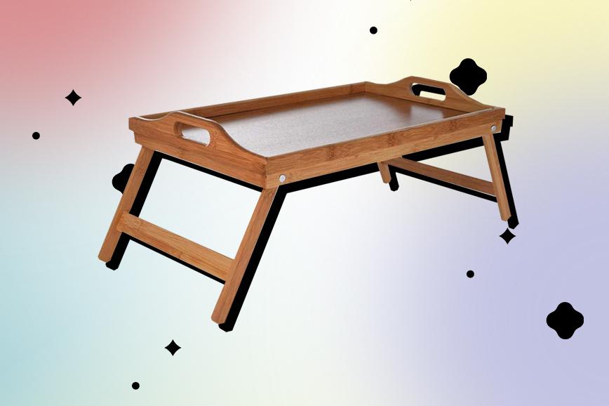 Складной столик для спальни