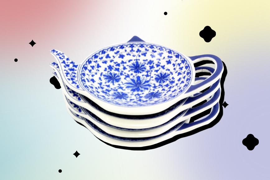 Посуда для чая: подставка для чайных пакетиков