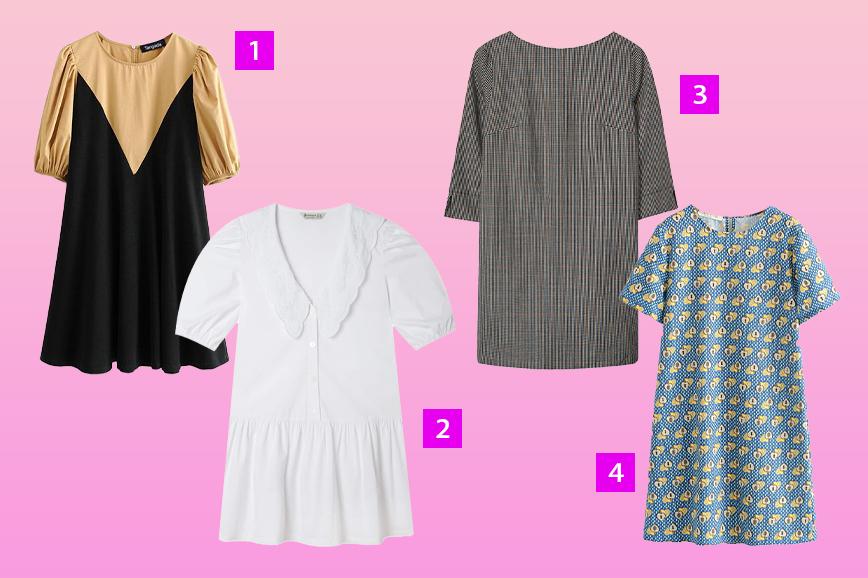 Как одеться в стиле Твигги: платья а-силуэта
