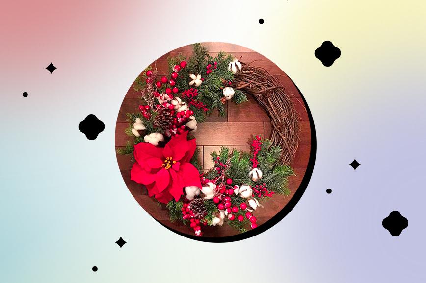 рождественский венок для дома