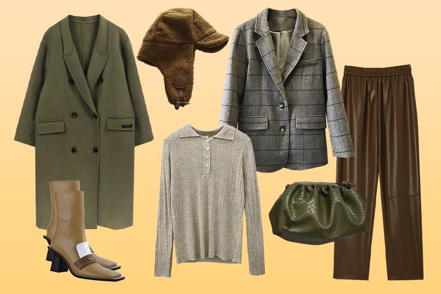 распродажа 11.11: коричневый цвет в одежде