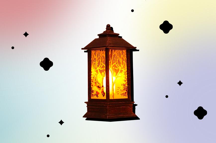 новогодние украшения: светодиодный фонарик