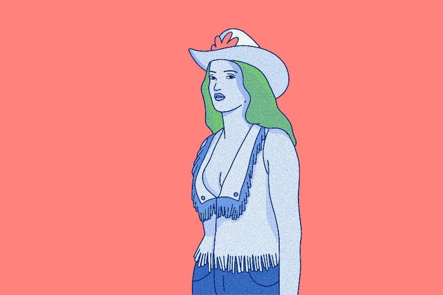 Образ героини фильма «Городской ковбой»