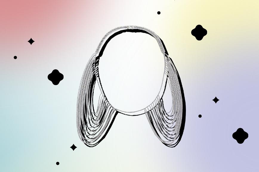 необычная бижутерия: ожерелье на шею и плечи