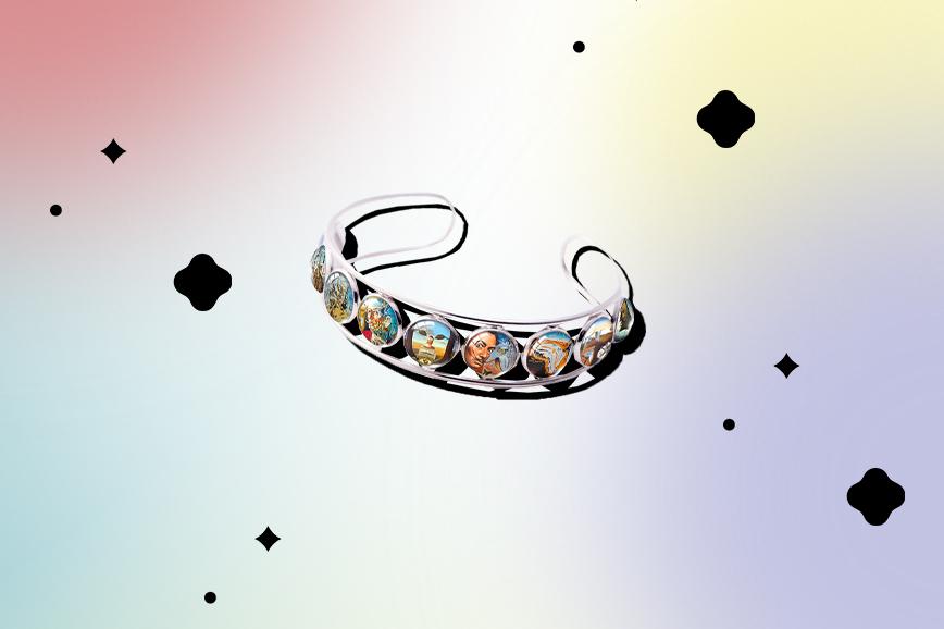 необычная бижутерия: браслет с репродукциями сальвадора дали
