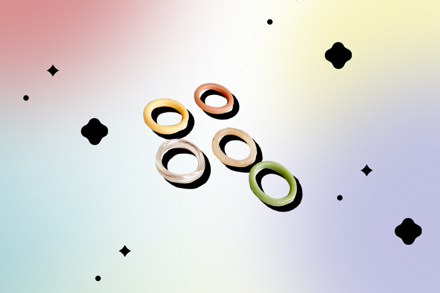 кольца из ацетата