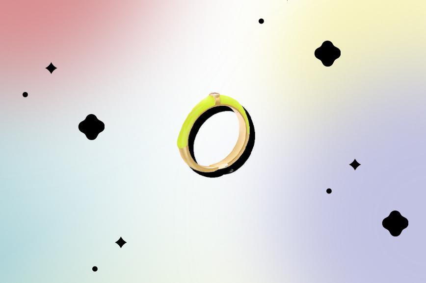необычная бижутерия: неоновые кольца