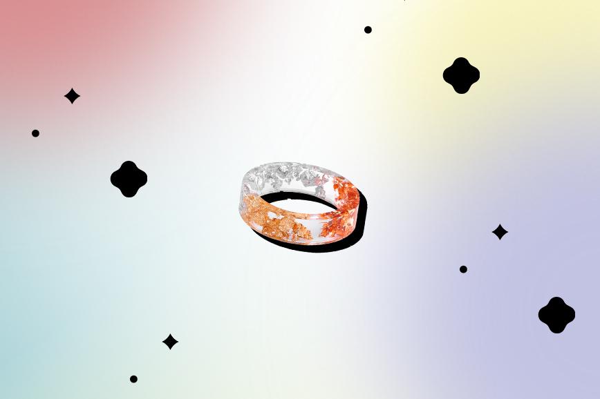 необычная бижутерия: винтажное кольцо из смолы