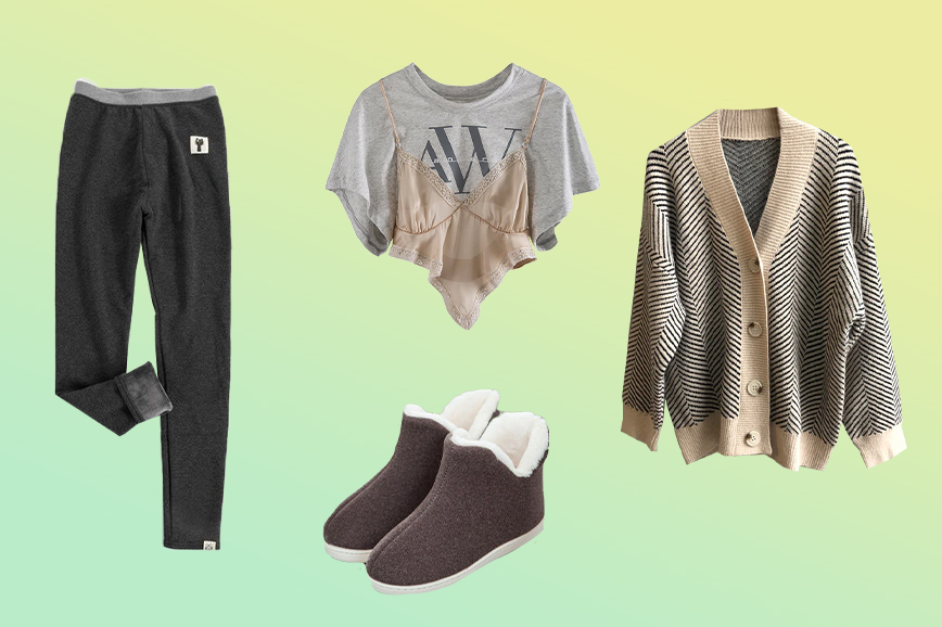 теплая домашняя одежда: утепленные легинсы