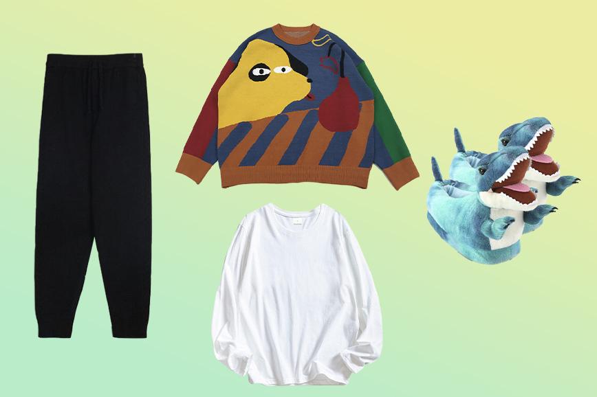 теплая домашняя одежда: смешные тапки