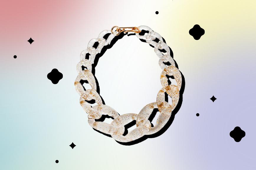 необычная бижутерия: ожерелье из акриловых цепей