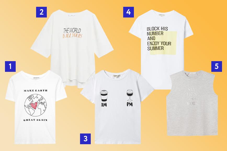 тренды весны 2021: одежда с лозунгами и слоганами