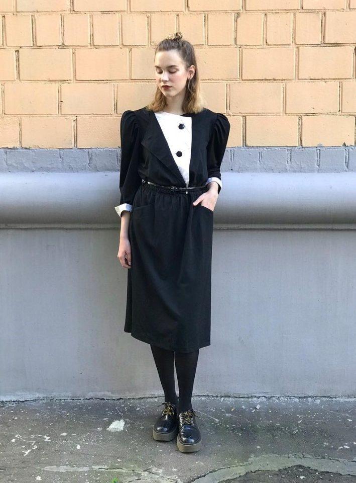 магазины винтажной одежды: платье из 80-х