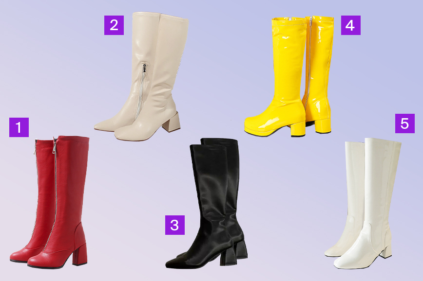 тренды обуви на весну: сапоги в стиле 60-х