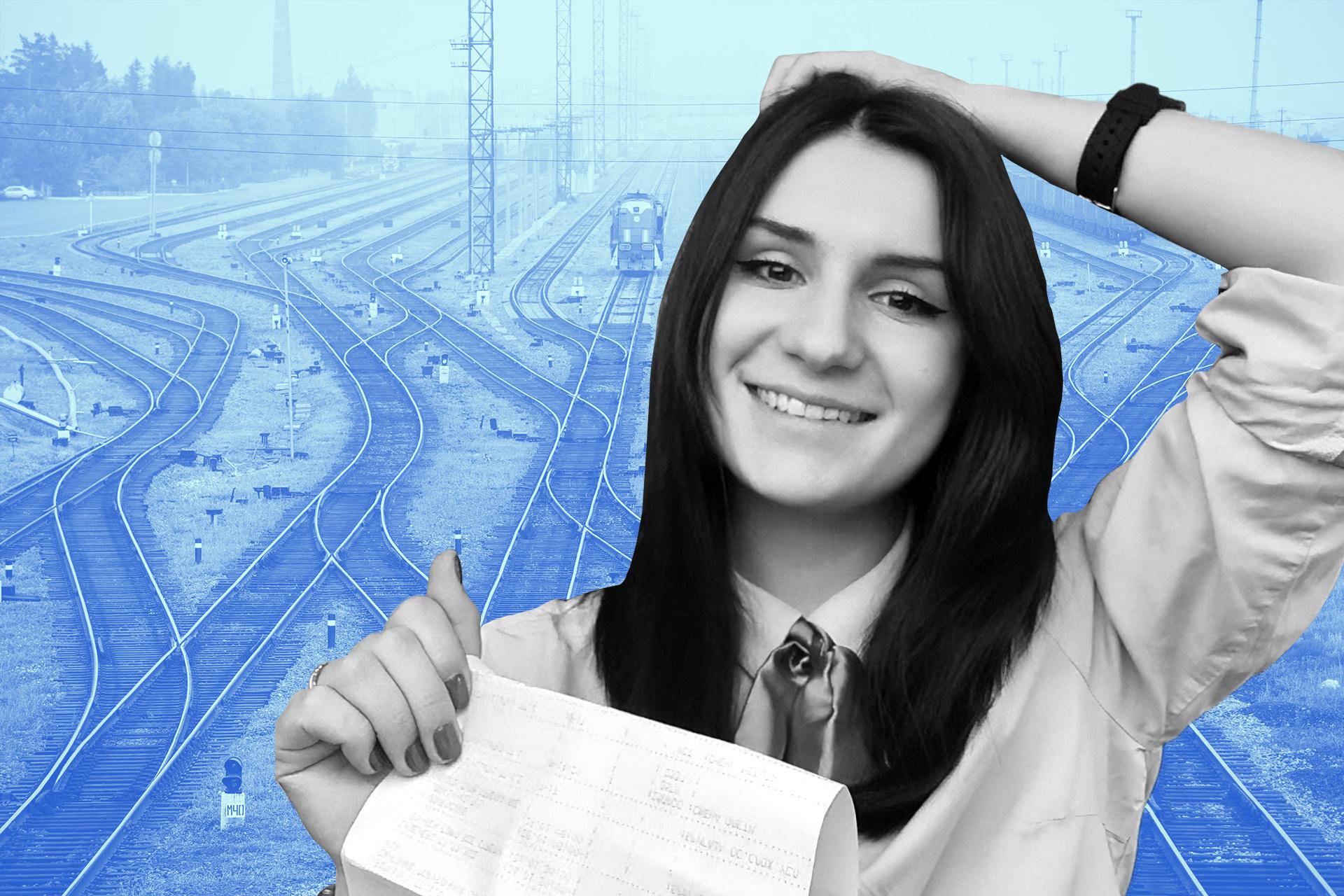 Первая женщина в профессии машиниста электропоезда