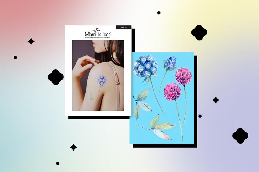 временные татуировки: цветы