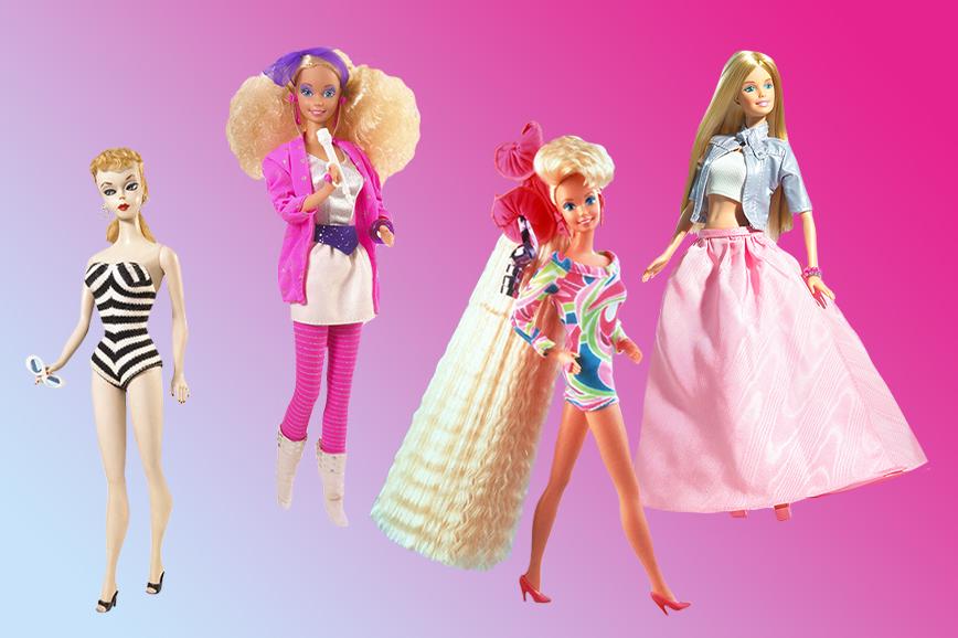 история Барби: модели кукол в разные десятилетия