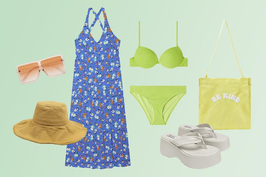 пляжная одежда: неоновый цвет