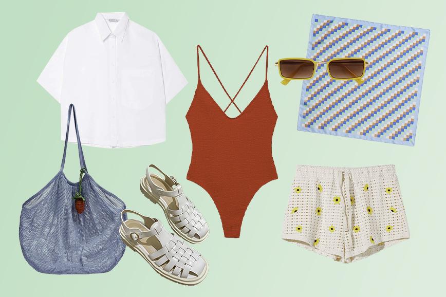 пляжная одежда: махровый купальник