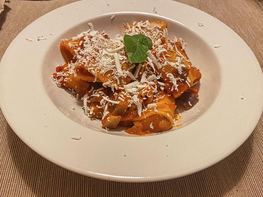 рецепт итальянской пасты: Паста с баклажанами и рикоттой