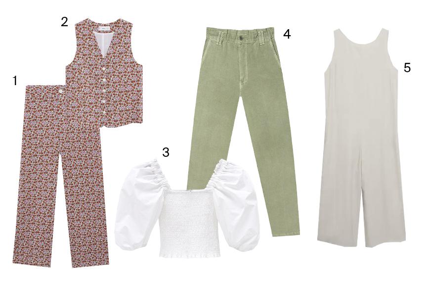 летняя одежда пастельных цветов