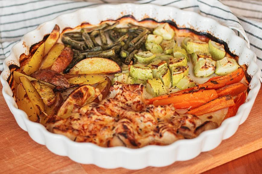 простые вкусные рецепты: Запечёная индейка с овощами