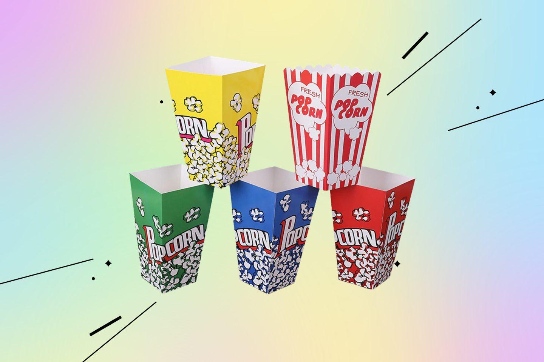кинотеатр дома: стаканчики для попкорна