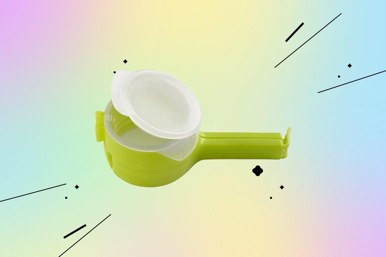 Товары для кухни: пластиковый зажим с дозатором