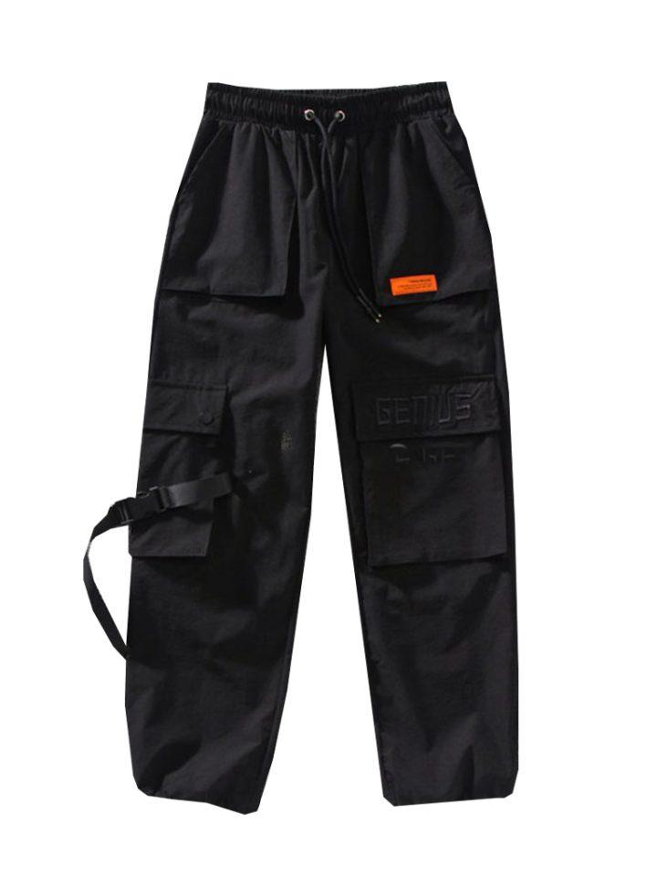 брюки карго с карманами