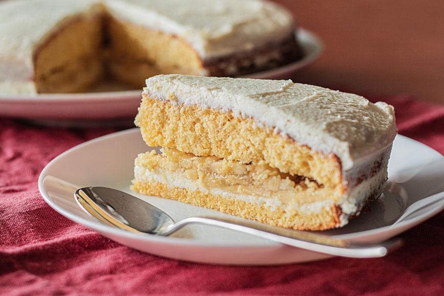 Нутовый торт в меру сладкий и очень ароматный