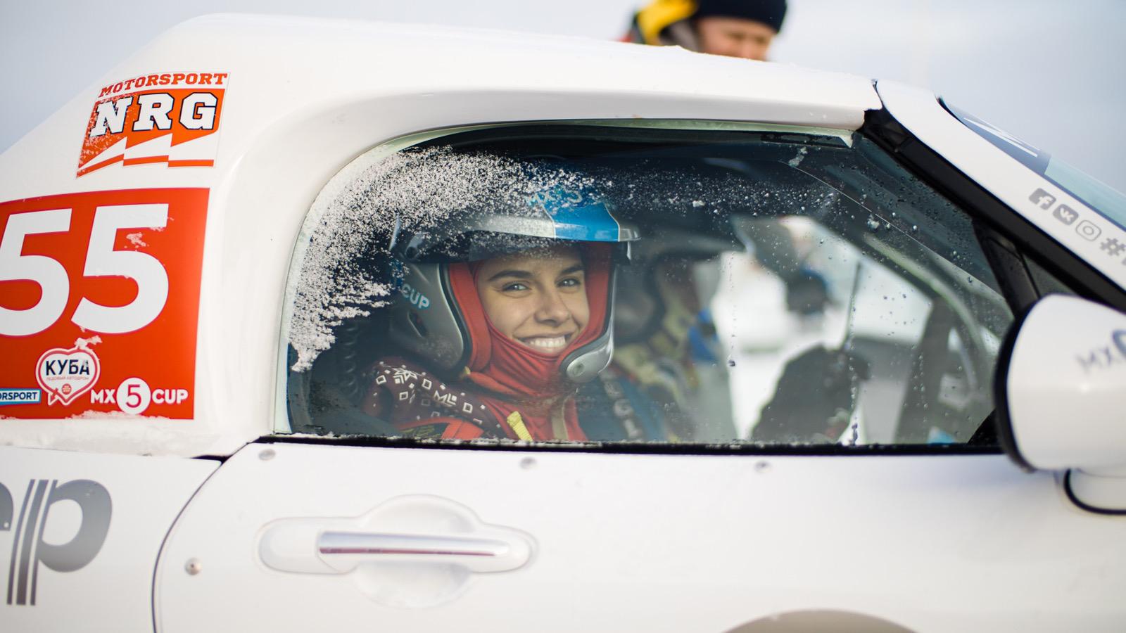 Екатерина Набойченко за рулём
