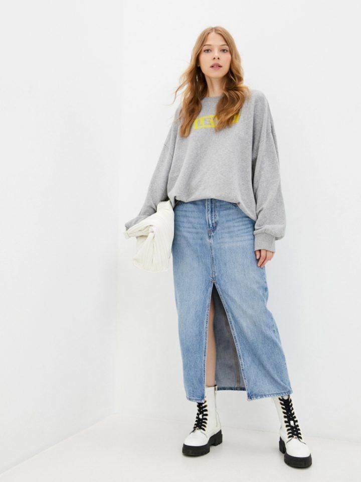 джинсовая юбка в ретро стиле